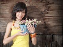 Красивейшая молодая женщина напольная Стоковое фото RF