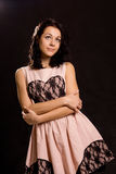 Красивейшая молодая женщина romanticising Стоковая Фотография RF