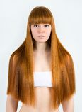 Красивейшая молодая red-haired женщина стоковая фотография rf