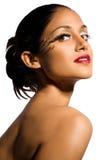 красивейшая модель косметик Стоковое фото RF