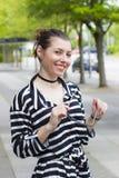 Красивейшая молодая женщина в платье стоковые фотографии rf