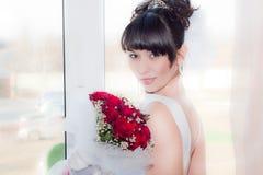красивейшая невеста букета Стоковые Фотографии RF