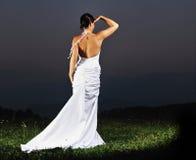 Красивейшая невеста напольная после церемонии венчания Стоковые Изображения