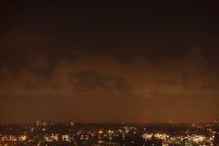 красивейшая ноча ландшафта иллюстрации города Стоковое фото RF