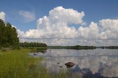 красивейшая область karelia дня Стоковые Фото