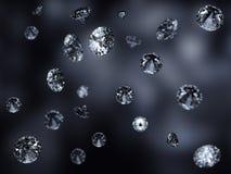 Красивейшая падая предпосылка диамантов Стоковые Изображения RF