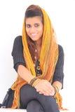 Красивейшая пакистанская модель Стоковые Фото