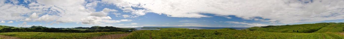 красивейшая панорама ландшафта Стоковые Изображения RF
