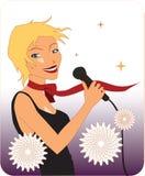 красивейшая певица Стоковая Фотография