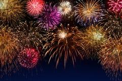 красивейшая победа ночного неба феиэрверков дня Стоковое Изображение