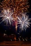 красивейшая победа ночного неба феиэрверков дня Стоковые Фото