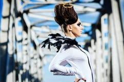 Красивейшая повелительница с маловероятные hairdress Стоковые Фото