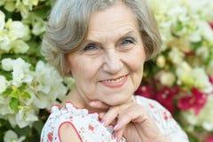 красивейшая пожилая женщина Стоковое Фото
