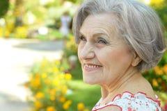 красивейшая пожилая женщина Стоковая Фотография RF