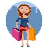 Красивейшая покупка женщины Стоковые Фото