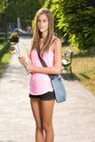 Красивейшая предназначенная для подростков девушка студента. Стоковые Изображения
