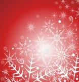 Красивейшая предпосылка зимы с снежинками Стоковые Изображения