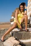 красивейшая представляя женщина ветрянок Стоковые Фото