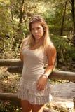 красивейшая представляя женщина Стоковое Изображение