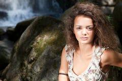 красивейшая представляя женщина Стоковая Фотография