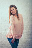 красивейшая представляя женщина Стоковые Фотографии RF