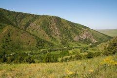 красивейшая природа горы kazakhstan Стоковое Изображение RF