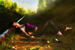 красивейшая природа девушки Стоковая Фотография RF