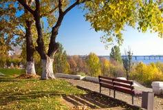 Красивейшая природа, осень в городе Стоковая Фотография
