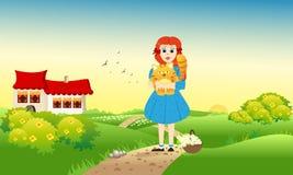 красивейшая прогулка девушки Стоковые Изображения