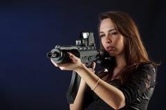 красивейшая пушка девушки Стоковая Фотография