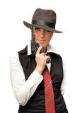 красивейшая пушка девушки Стоковое Изображение RF