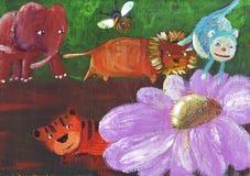 красивейшая пуща цветка Стоковое Изображение