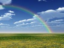 Красивейшая радуга стоковые фотографии rf
