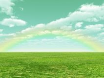 красивейшая радуга Стоковое Изображение