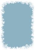 Красивейшая рамка снежинок. стоковое фото