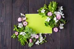 красивейшая рамка цветков Стоковые Фотографии RF
