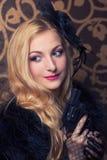 Красивейшая ретро женщина Стоковое Фото