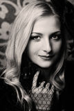 Красивейшая ретро женщина Стоковое Изображение RF