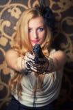 Красивейшая ретро женщина Стоковая Фотография