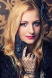 Красивейшая ретро женщина Стоковые Фотографии RF