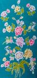 Красивейшая розовая ткань батика цветка Стоковая Фотография RF
