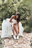 Красивейшая самомоднейшая невеста Стоковые Изображения RF