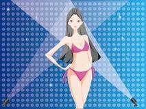 Красивейшая сексуальная девушка в бикини Стоковые Изображения