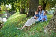красивейшая семья Стоковое Изображение