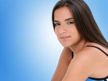 красивейшая синь одевает работу девушки вне предназначенную для подростков Стоковое фото RF