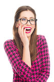 красивейшая смеясь над женщина Стоковое фото RF