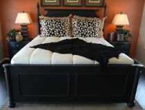 красивейшая спальня Стоковые Изображения