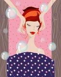 красивейшая спа девушки иллюстрация штока