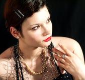 красивейшая стильная женщина стоковое фото rf