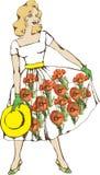 красивейшая стильная женщина бесплатная иллюстрация